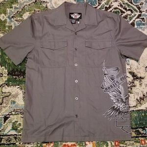 Harley Davidson button up shirt-short sleeve